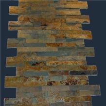 Rusty Slate Stone Veneer Wall Panel Slate Ledgestone Wall Cladding