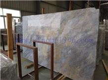Color Cloud Gold Ash Marble Slabs