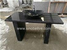New Black Pearl Granite Vanity Tops with Sink