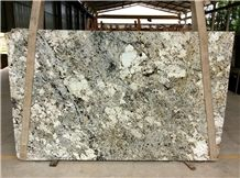 Brown and Blue Granite Slabs