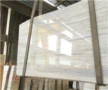 Alternative Nuvolato Eurasian White Wood Marble Slabs,Cut-To-Size Tile
