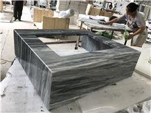 Bardiglio Nuvolato Classico Carrara Grey Marble Bathroom Vanity Tops