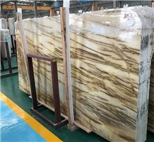 Champagne Gold Marble Slabs&Tiles with Gold Veins for Wall Background