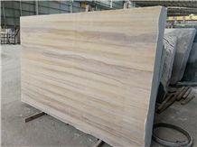 Ginkgo Wood Grain Beige Wooden Marble Slabs Moca Cream Wall Floor Tile