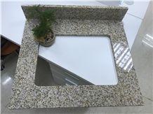Golden Garnet Granite Shandong Golden Sesame Bathroom Vanity Tops