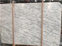 Snowflake Fine Lines Snow White Statuario Venato Marble Slabs&Tiles