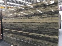 Verde Bamboo Brazil Green Quartzite Slabs,Polished Floor Wall Tiles