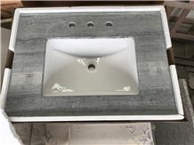 Victoria Blue Oak Marble Wood Vein Bathroom Vanity Tops Bath Tops