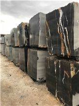 Sahara Black Marble Block, Tunisia Black Marble