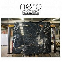 Dark Side Of the Moon Slabs & Tiles, Nero Picasso Marble Slabs
