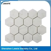 Hot Sale China Oriental White Hexagon Mosaic Tile