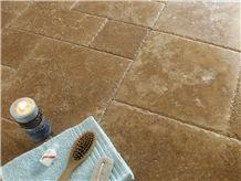 Noce Travertine Pattern Slabs & Tiles, Turkey Brown Travertine