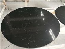 Black Quartz Round Table Tops
