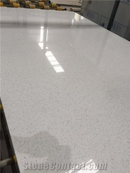 Sparkle White Quartz Slabs Tiles From China Stonecontact Com