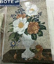 Mosaic Medallion Flower Design Carpet Square Medallions