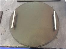 Black Slate Plate Kitchen Utensils Serving Plates Tray