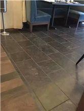 Blue Limestone Honed Floor Project