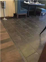 China Blue Limestone Tumbled Blue Flooring Wall Covering French Pattern