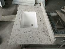 Custom corian grey quartz vanity top full set quartz master vanity