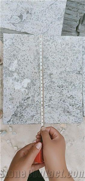 Custom Made Blue Stone Floor Tiles Flamed Finish Blue Stone Tile