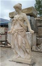 Italy Travertine Human Sculpture