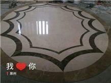 Marble Floor Waterjet Floor Round Decorative Panel Medallion