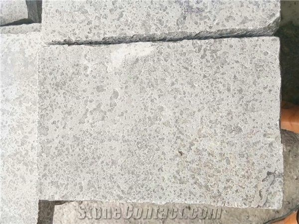 Thermal Finish Blue Stone Tiles Blue Stone Flamed Tile