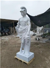 White Marble Human Sculpture Handcarved Western Statues