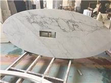 White Marble Table Top Design Bianco Carrara White Marble Reception