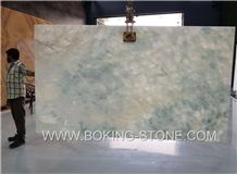 White Ice Jade Onyx Light Green Onyx Slab