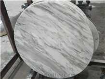 White Marble Round Table Solid Stone Top with Good Quality