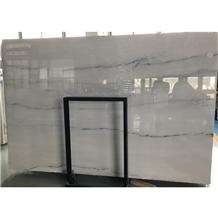 Sale New Gray Vein Pre-Fab Tiles Price Elegant White Marble