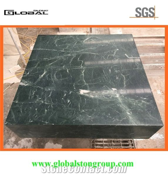 Honed India Green Marble Tops For Hotel Office Cabinet Desk Top Furniture