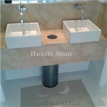 Beige Marble Bath Design