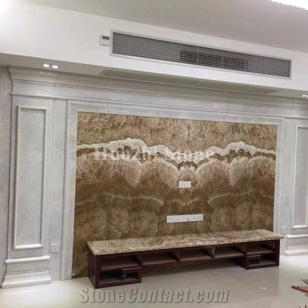 Brown Onyx/Interior Design/Home Design/Brown Wall Panels/Onyx Tv ...