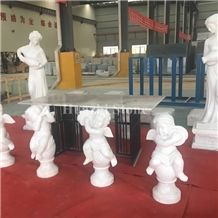 Guangxi White Marble Art Design/Art Gift/Art Works/Creative Works/Art