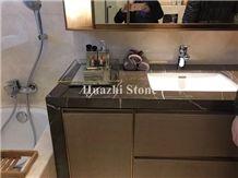 Iran Grey Marble Bath Tops Pietra Grey Tops Graphite Marble Master Vanity Tops