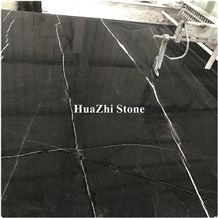 Italy Saint Laurent Grey Marble with Curly Grain Big Slab White Veins