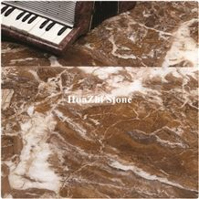 Mystic Brown Marble Slabs Floor Cut to Size Tiles Pattern Price