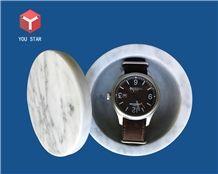 Carrara White Bathroom Accessories Jewelry Boxes