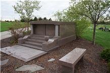 China Grey Columbarium Niches Mausoleum Cremation Niches