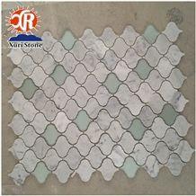 2018 Unique Design Carrara Lanterns Ceramic Mosaic Lantern Mosaic Tile