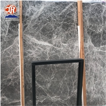 Dark Grey with White Vein Aegean Grey Marble Price for Big Slabs Tile