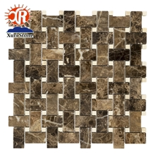 Emperador Marble Mosaic,Bathroom Floor Tile