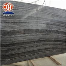 High Quality Stone Market Zebra Antique Black Wood Marble Slabs