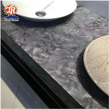Luxury Matrix Granite Stone Versace Black Granite Slab Custom Bathroom Counter Top