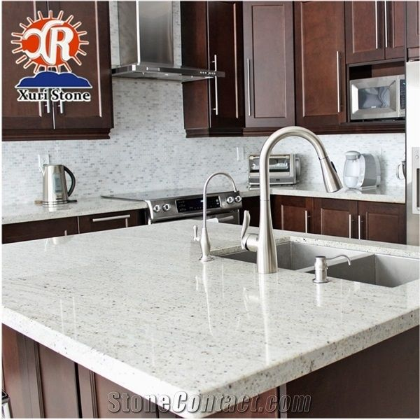 Kashmir White Granite Kitchen Island