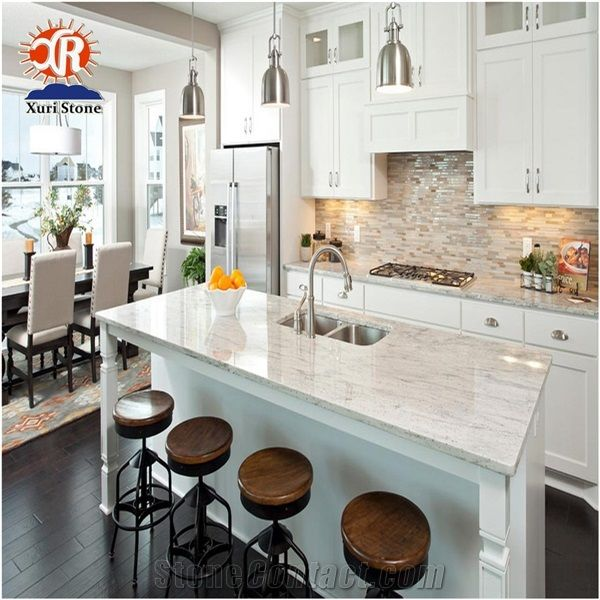 Nature Kashmir White Granite Kitchen Island Table Top Counter And Perimeter Countertops Fujian Nan An Xuri Stone Co Ltd