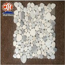 Superior Italian Carrara White Marble Mosaic Backsplash