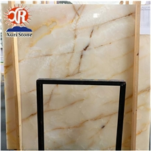 Wholesale High Quality Natural Iran White Onyx Tile